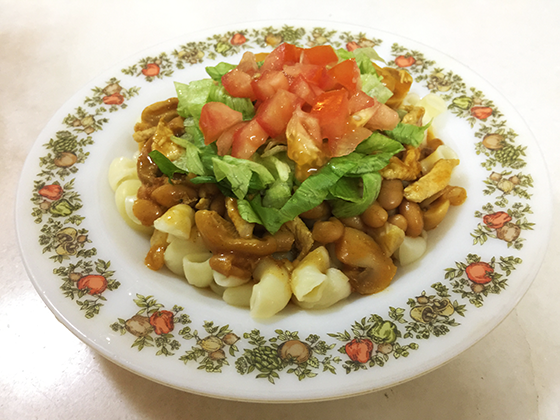 Simple Elbow Macaroni With Ayamas Baked beans
