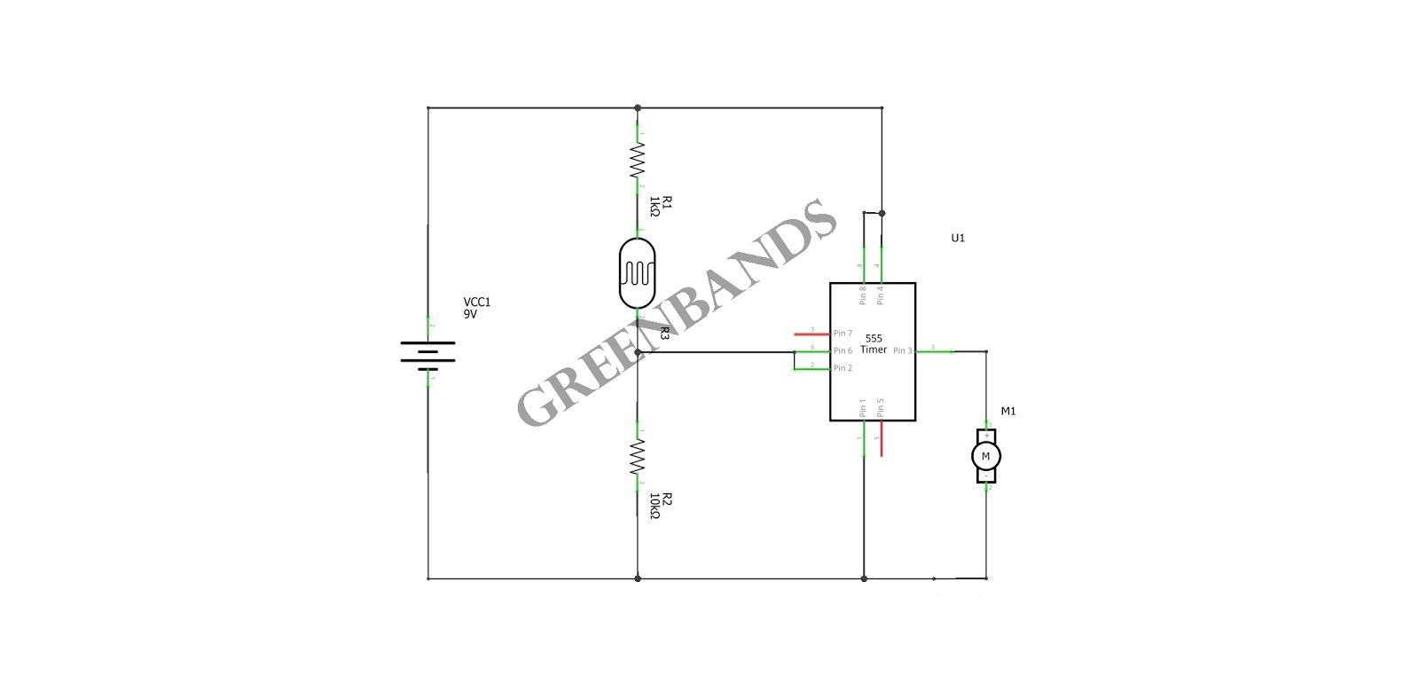 LDR circuit running motor