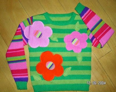 Applique in knit garment