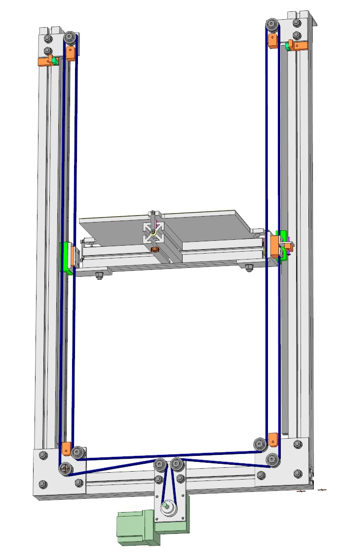 Belted Z axis conversion for Ender-3