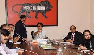 Commerce & Industry Minister Suresh Prabhu launches Mobile App Niryat Mitra