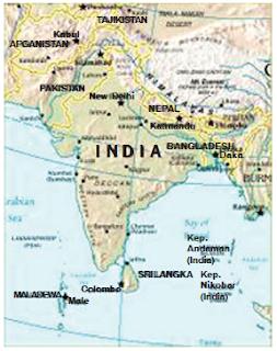 Bentang Alam, Batas-Batas, Nama-Nama Negara serta Gambar Peta Wilayah dan Perwilayahan Benua Asia