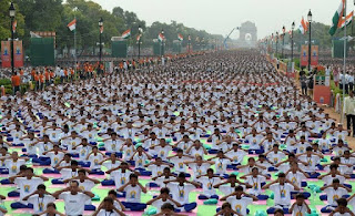 India created world record with 40000 doing different asanas of Yoga