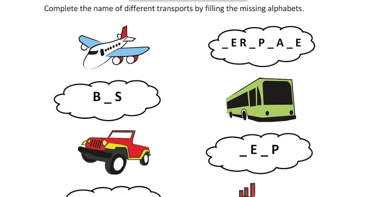 Free Fun Worksheets For Kids: Free Printable Fun Worksheet : EVS - Transport