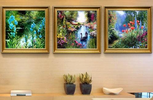 Hướng dẫn cách treo tranh trang trí phòng khách đẹp, sang trọng