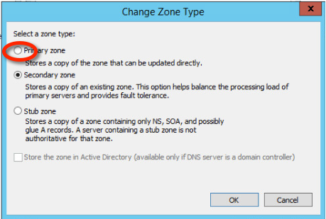 Figure 10: Step 10 of migrating a Linux BIND name server to a Windows Server DNS server.