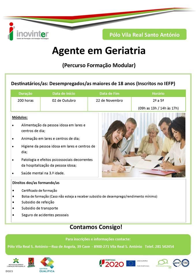 curso de agente em geriatria em Vila Real de Santo António