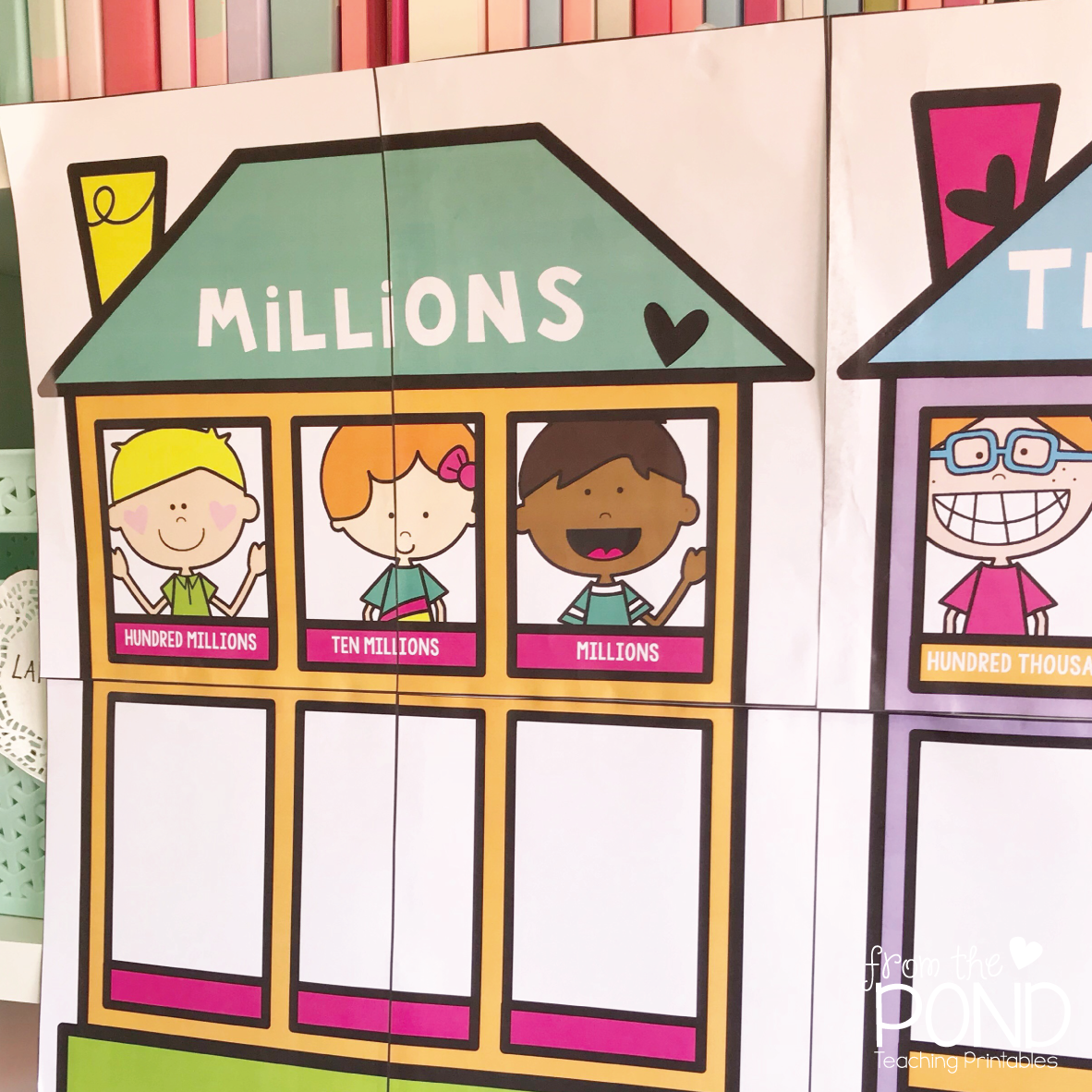 hight resolution of cover the poster with clear plastic adhesive or get it laminated you can write numbers in the windows while it is on display or use place value blocks with