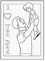 fun  learn  free worksheets for kid ภาพระบายสี วันพ่อ