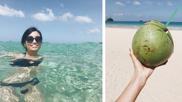 Palawan is a dreamy paradise for swimming and coconut-drinking.