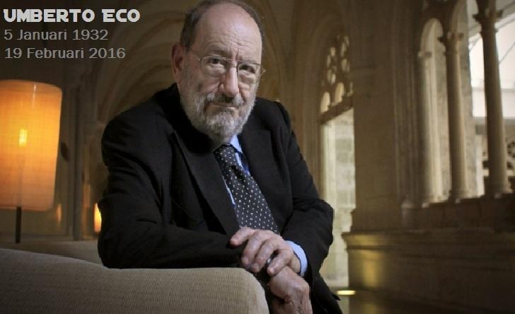 "Biodata Profil Umberto Eco NOVELIS ""The Name of the Rose"" Asal Italia"
