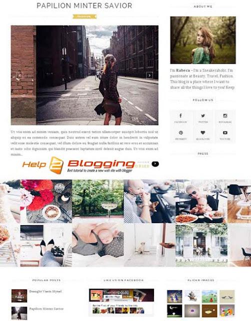 ELEGANT Blogger Template Free Download
