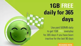 Smile free 1gb data