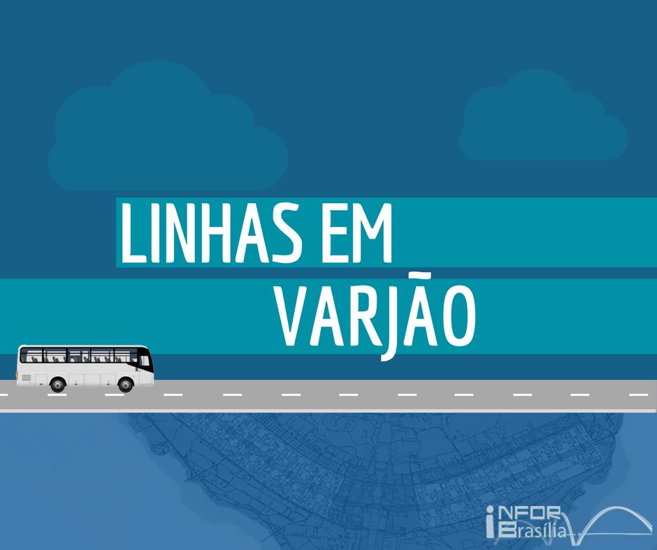 Horário de ônibus das linhas do Varjao