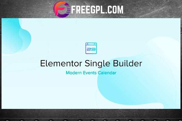 Elementor Single Builder Addon for MEC Free Download