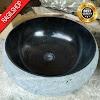 Wastafel marmer tulungagung donat motif asli batu alam diameter 40 cm