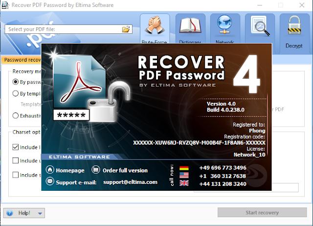 [Soft] Eltima Recover PDF Password 4.0.238.0 - Khôi phục mật khẩu PDF