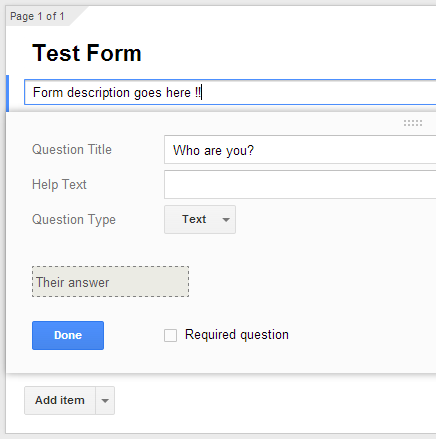 Test Form - Google Drive