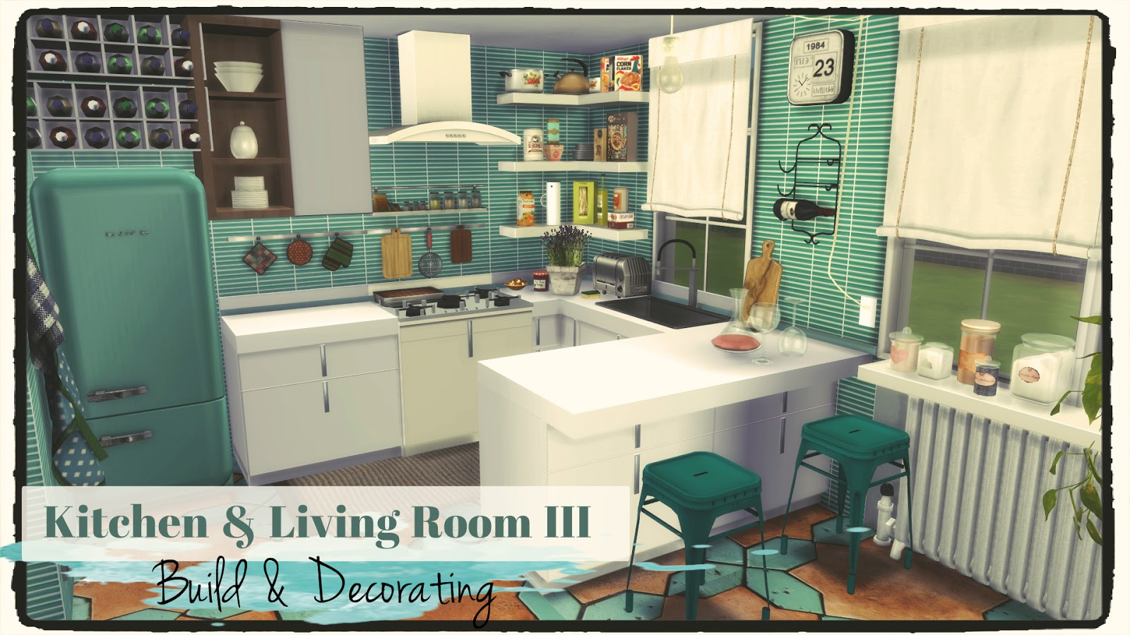 Sims 4  Kitchen  Living Room III Build  Decoration