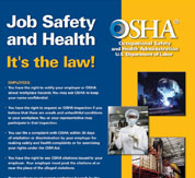 The Federal OSHA Poster: Job Safety and Health-It's the Law!