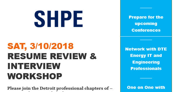 SWE Detroit: SWE-NSBE-SHPE Resume Workshop at DTE!