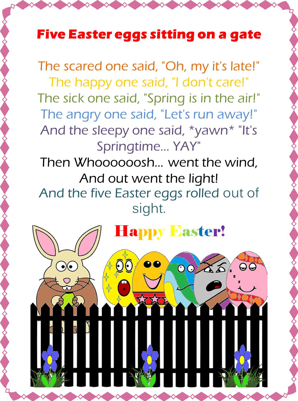 Youtube Easter Songs: ESL/EFL Preschool Teachers: Fingerplays For Easter