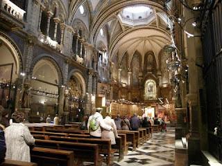 monasterio de montserrat interior