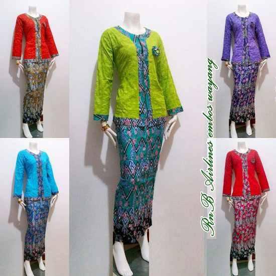 Model Baju Batik Wanita 2015: Baju Seragam Batik Kerja Wanita Model Pramugari