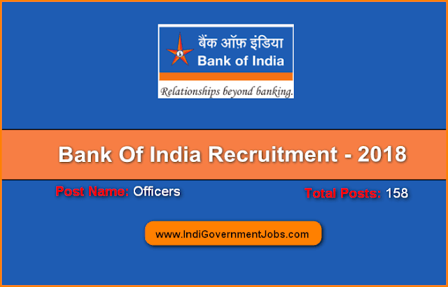Bank of India Recruitment 2018 : For Officer posts