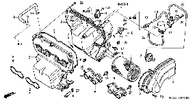 2006 Honda CB900F air cleaner components and parts diagram