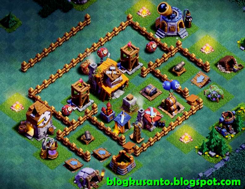 Gambar Base Coc Mode Malam Th 5 9