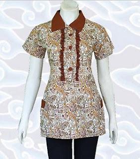 Gambar Model Baju Batik Kantor Wanita Terbaru