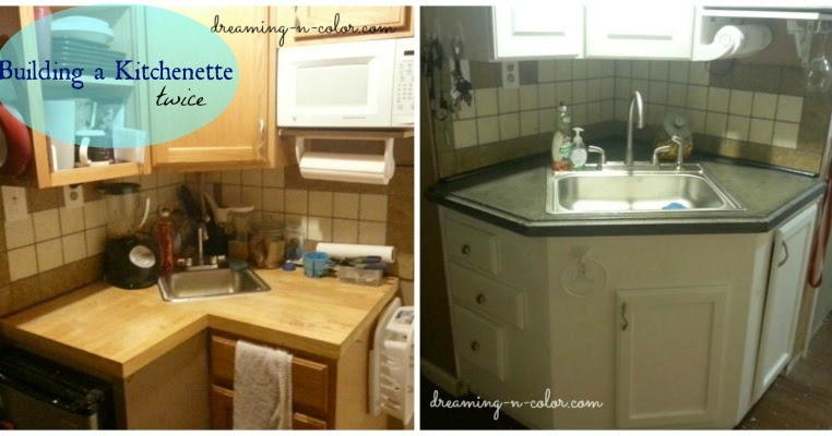 How To Make The Best Of Your Kitchenette: Dreamingincolor: Building A Kitchenette (Part 2