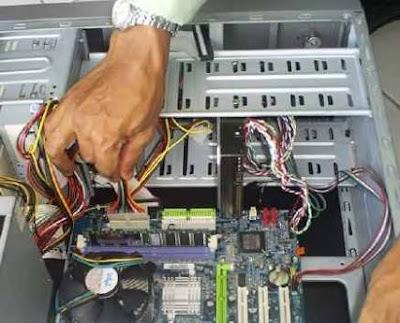 Pemasangan Kabel pada Motherboard