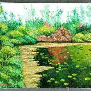 Lukisan Cat Minyak Landscape 0010