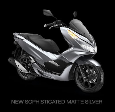 All New Honda PCX - Sophisticated Matte Silver