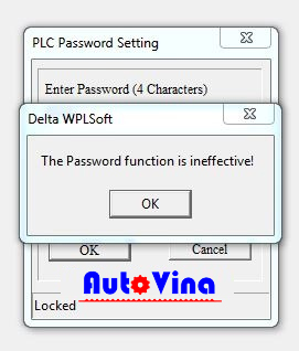 Crack PLC Delta DVP28SV11T password is ineffective