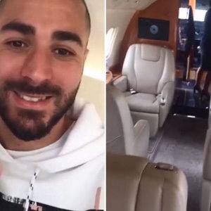 Benzema présente son jet… (vidéo)