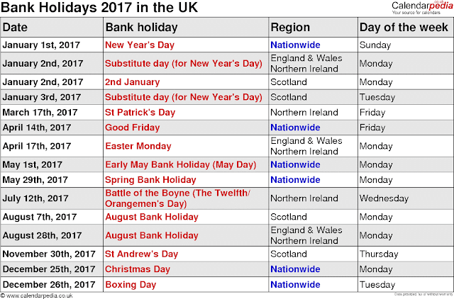 2018 Calendar with Holidays | USA UK Canada NZ SA - 2019 ...