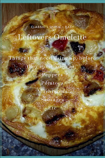 This easy omelette recipe is the perfect way to use up your leftovers!