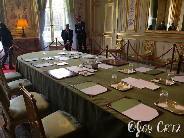 Le salon vert, Palais de l'Elysée, Paris