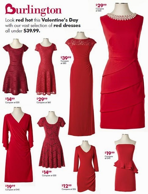 burlington red dresses