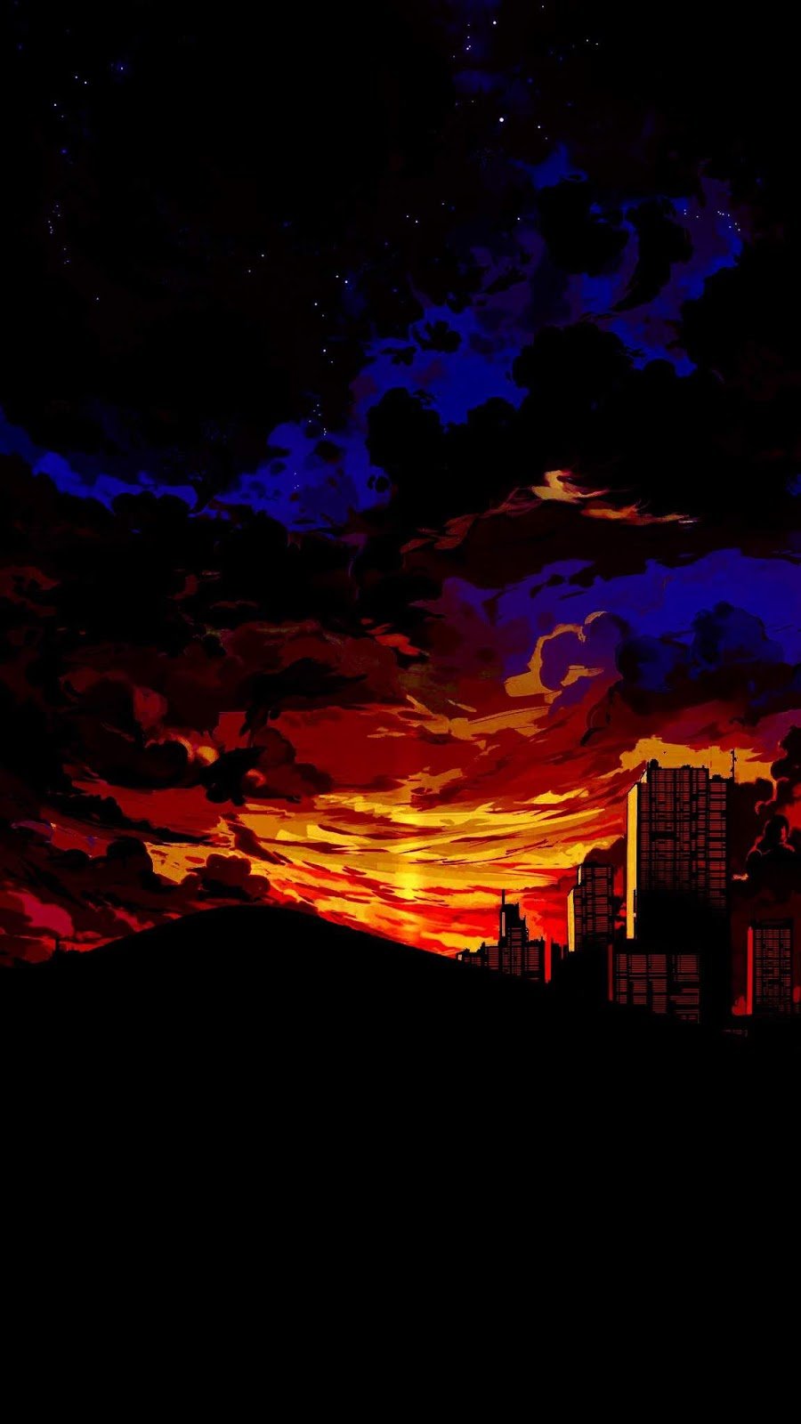 Anime Sunset in the Desert