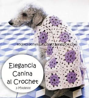 3 capas para perros con grannys crochet