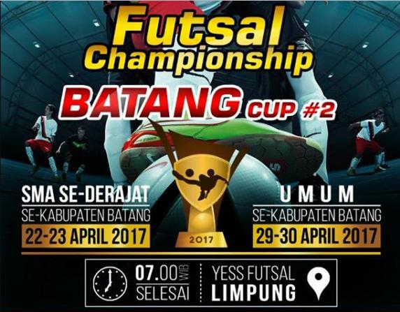 Event Batang | Futsal Championship Batang Cup #2 2017