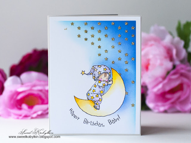 Birthday Baby Penny Black Stamps - Sweet Kobylkin 2