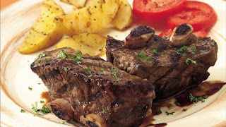 Grilled short Ribs with Parsley Sauce and Hearts of Palm Salad | Healthy Grilled Ribs Recipes