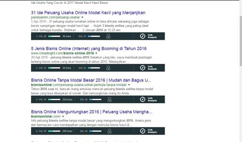 Menganalisis Tingkat Persaingan Keywords di Search Engine Google