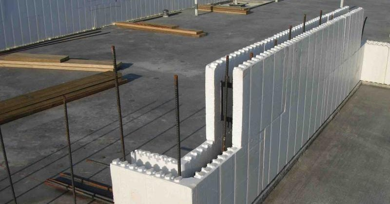 Icf walls rarely formed and poured higher than one floor for Foam block wall construction