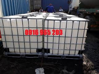 Bồn nhựa vuông cũ 1000L, tank nhựa cũ 1000L
